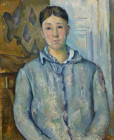 Paul Cézanne, Madame Cézanne in Blue Dress, 1886-87. The Museum of Fine Arts, Houston. The Robert Lee Blaffer Memorial Collection, gift of Sarah Campbell Blaffer