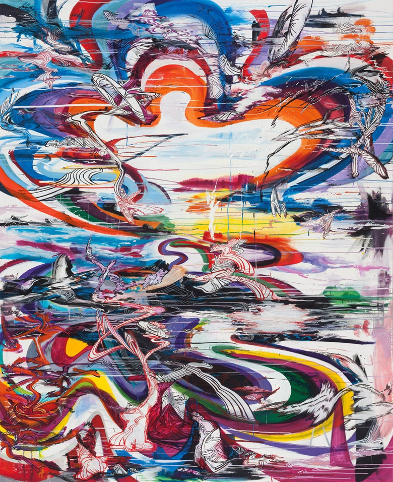 Suling Wang (1968), Open Paths of Origin, 2006. Oil and acrylic on canvas. 245.2 x 199.8 cm (96½ x 78⅝ in). Estimate $2,000-3,000. This work is offered from 20-27 November in Asian Contemporary Art Online