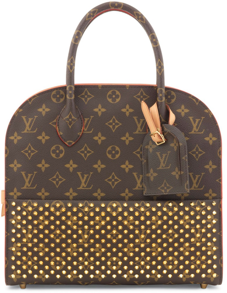 A Limited Edition Red Pony Hair Stud Monogram Iconoclast With Gold Hardware By Louboutin Louis Vuitton 2017 This Bag Was Offered In Handbags