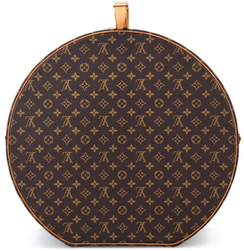 A monogram canvas Boite Chapeaux Hat Box 50 with gold hardware. Louis Vuitton, 2000s. This bag was offered in Handbags & Accessories, Online, 22 November to 5 December 2017, and sold for $1,500