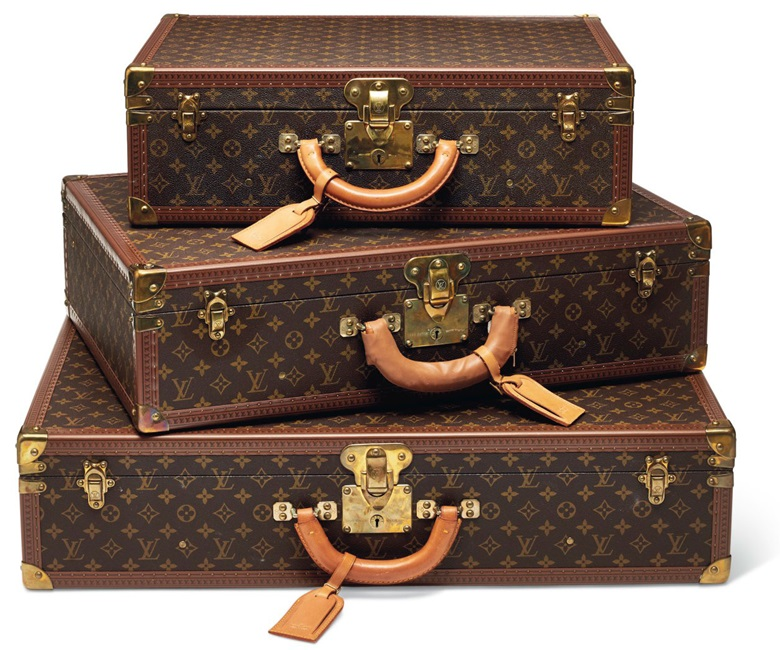 Three classic monogram Canvas Bisten 55, 65 & 75 with brass hardware. Louis Vuitton, 20th century. This lot was offered in Handbags & Accessories on 12 December at Christie's in Paris and sold for €7,500