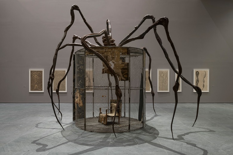 Installation view of Louise Bourgeois An Unfolding Portrait. The Museum of Modern Art, New York. Photo by Martin Seck for the Museum of Modern Art © 2017 The Easton FoundationLicensed by VAGA, NY.