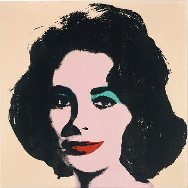 Andy Warhol (1928-1987), Liz #2 [Early Colored Liz], 1963. Acrylic and silkscreen inks on canvas. 40 x 40 in (101.6 x 101.6 cm) © 2017 The Andy Warhol Foundation for the Visual Arts, Inc.  Licensed by Artists Rights Society (ARS)      p.p1 {margin 0.0px 0.0px 0.0px 0.0px; font 15.0px Calibri}