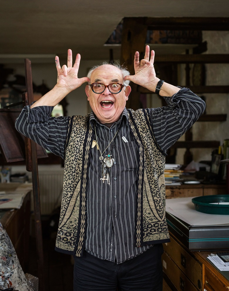 Ralph Steadman has said that Hunter S. Thompson's suicide 'depressed me more than I anticipated. His death left a big gap in my life'. Photograph by Rikard Österlund, www.rikard.co.uk