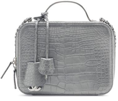 Sac défilé vanity en alligator lisse argent, garniture en métal argenté, Chanel, 2017 cruise.  l 24 x  h 17 x  p 10  cm. Estimate €6,000-8,000. This lot is offered in Sacs & Accessoires on 12 December at Christie's in Paris  It's hard to envision an outfit that wouldn't pair well with this rare version of Chanel's current 'It bag', the Vanity Case. Though we've