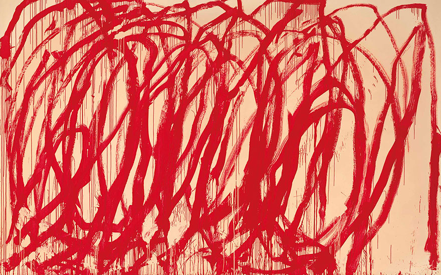 Cy Twombly (1928-2011), Untitled, 2005. 128 x 194½ in (325.1 x 494 cm). Estimate on request. This work is offered in the Post-War & Contemporary Art Evening Sale on 15 November 2017 at Christie's in