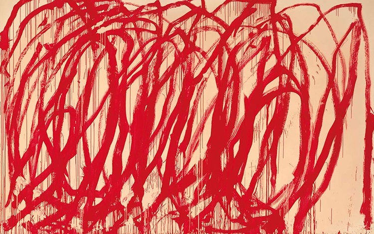 The largest work in Cy Twombly auction at Christies