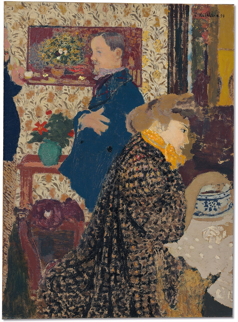Edouard Vuillard (1868-1940), Misia et Vallotton à Villeneuve, painted in 1899. 27⅝ x 20⅛  in (70.2 x 51.1  cm). Estimate $7,000,000-10,000,000. This lot is offered in the Impressionist & Modern Art Evening Sale on 13 November 2017  at Christie's in New York