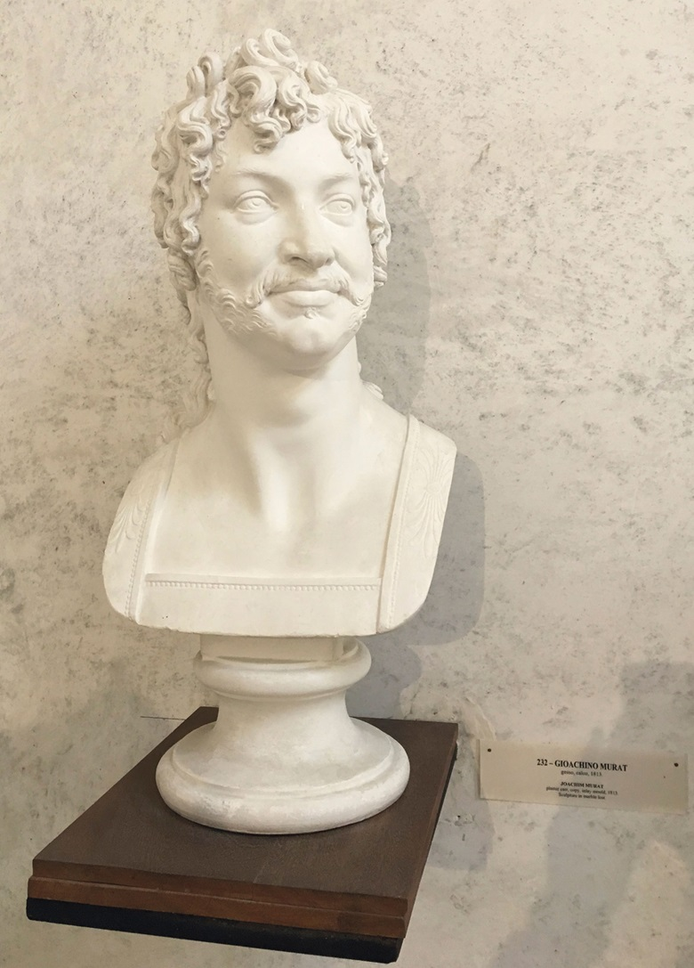 The original plaster model of the bust of Murat at the Canova Museum in Possagno, Italy