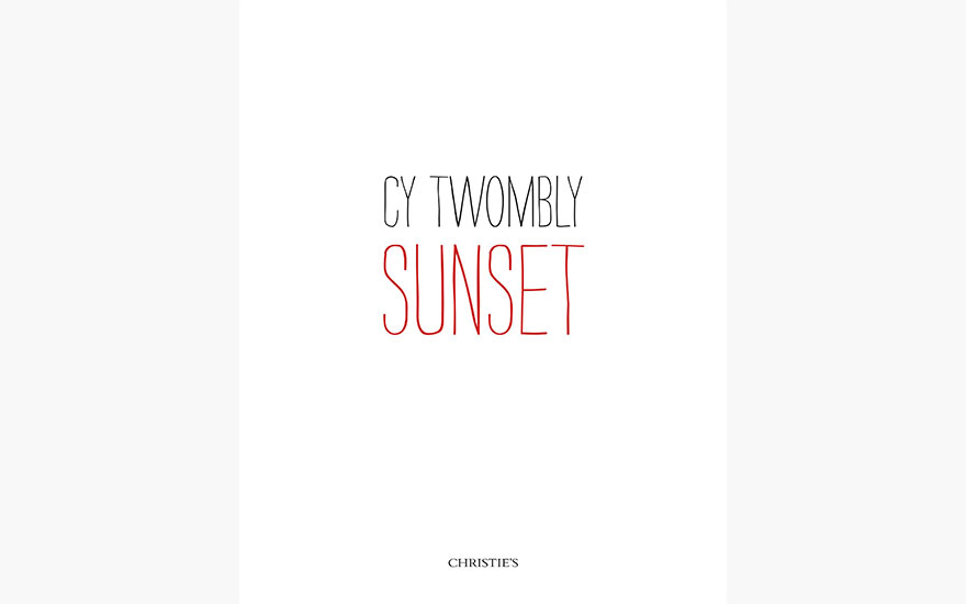 Special Publication: Cy Twombly, Sunset