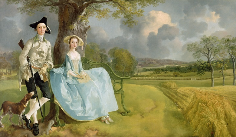 Thomas Gainsborough, Mr and Mrs Andrews, circa 1748-49. Photo National Gallery, London, UK  Bridgeman Images