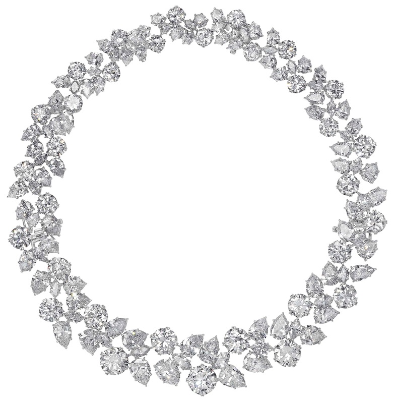 An exquisite diamond cluster wreath necklace, by Harry Winston. Sold for $1,812,500 on 6 December 2017 at Christie's in New York