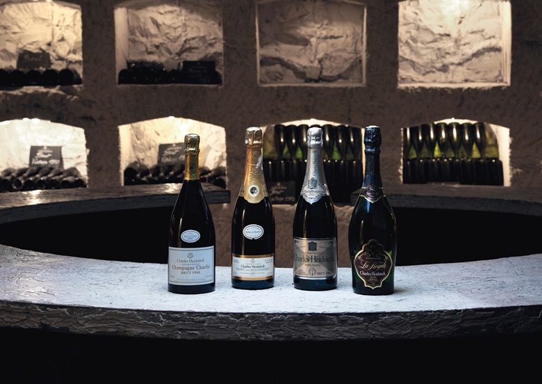 Vintages offered in Finest & Rarest Wines & Spirits on 7 December, photographed in Charles Heidsieck's Crayères, where they have resided since being bottled