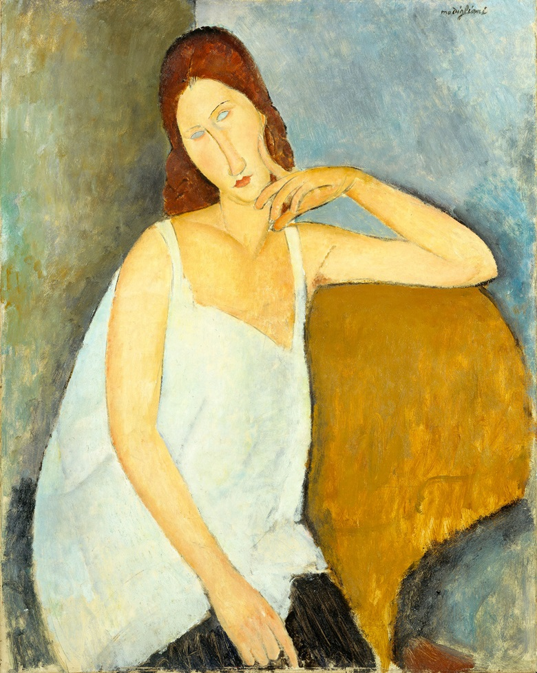 Amadeo Modigliani (1884-1920), Jeanne Hébuterne, 1919. Oil on canvas. 914 x 730 mm. The Metropolitan Museum of Art, New York