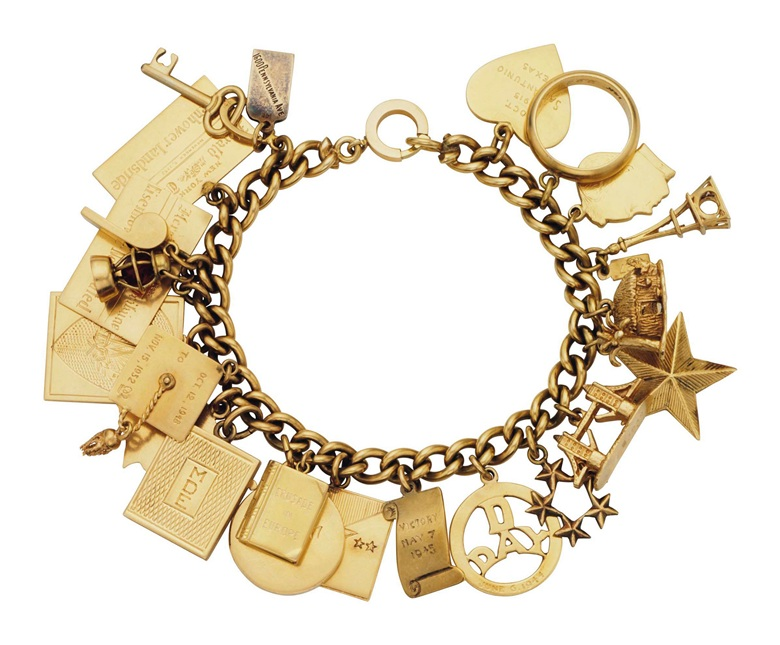 A gold charm bracelet. Estimate $4,000-6,000. This lot is offered in Magnificent Jewels on 6 December 2017  at Christie's in New York
