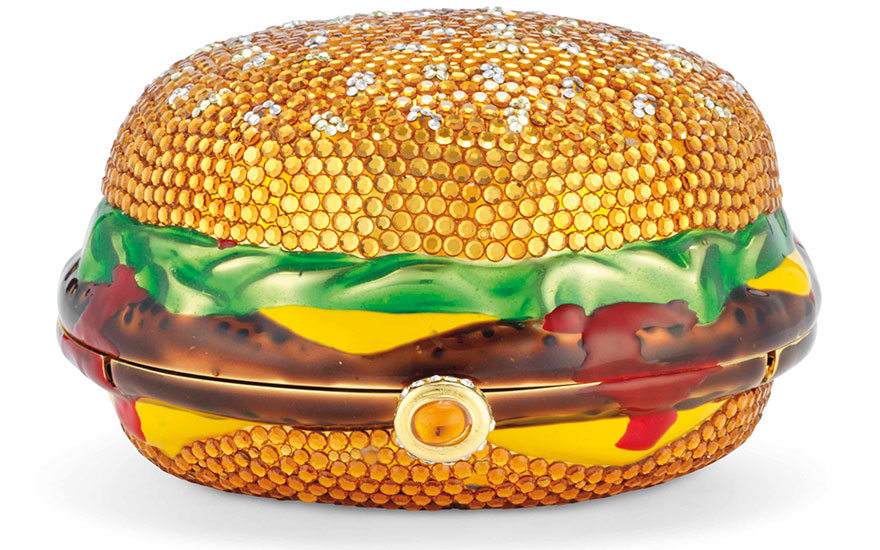 Sac du soir Cheeseburger, n. 25500, Kathrine Baumann, 1997. 12 x 6 x 12  cm. Estimate €1,000-2,000. This lot is offered in Sacs & Accessoires on 12 December 2017  at Christie's in Paris