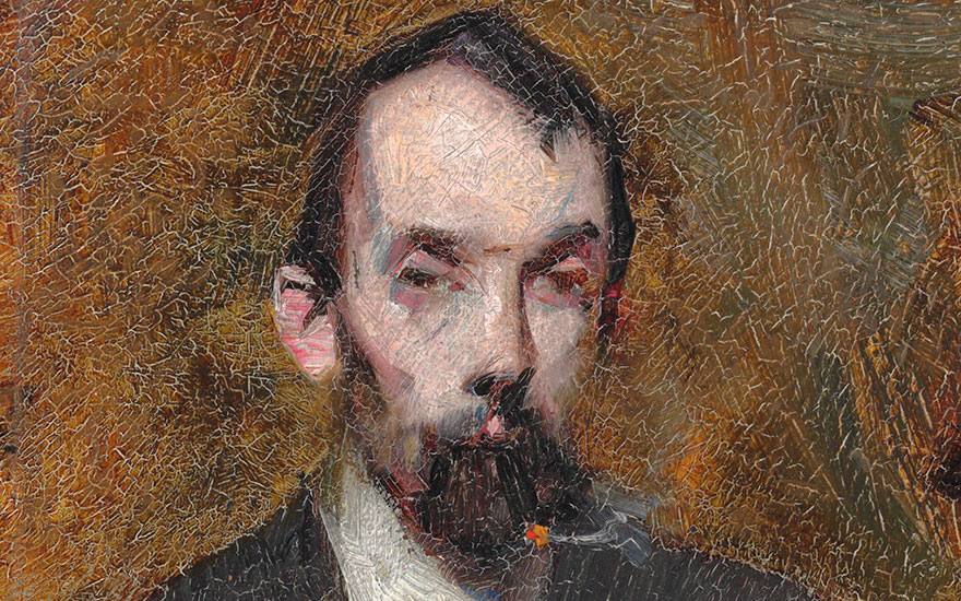 Detail of Sir Arthur Ernest Streeton (1867-1943), Portrait of Louis Abrahams. 8¼ x 6⅛ in (21 x 15.5 cm). Estimate £60,000-80,000. This lot is offered in Australian Art on 14