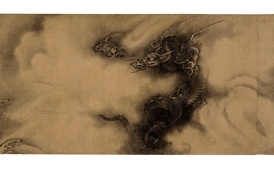 Chen Rong (13th century) as catalogued in Shiqu Baoji, Six Dragons. Calligraphy 13⅞ x 32⅝  in (35.1 x 82.8  cm). Sold for $48,967,500 on 15 March 2017  at Christie's in New York