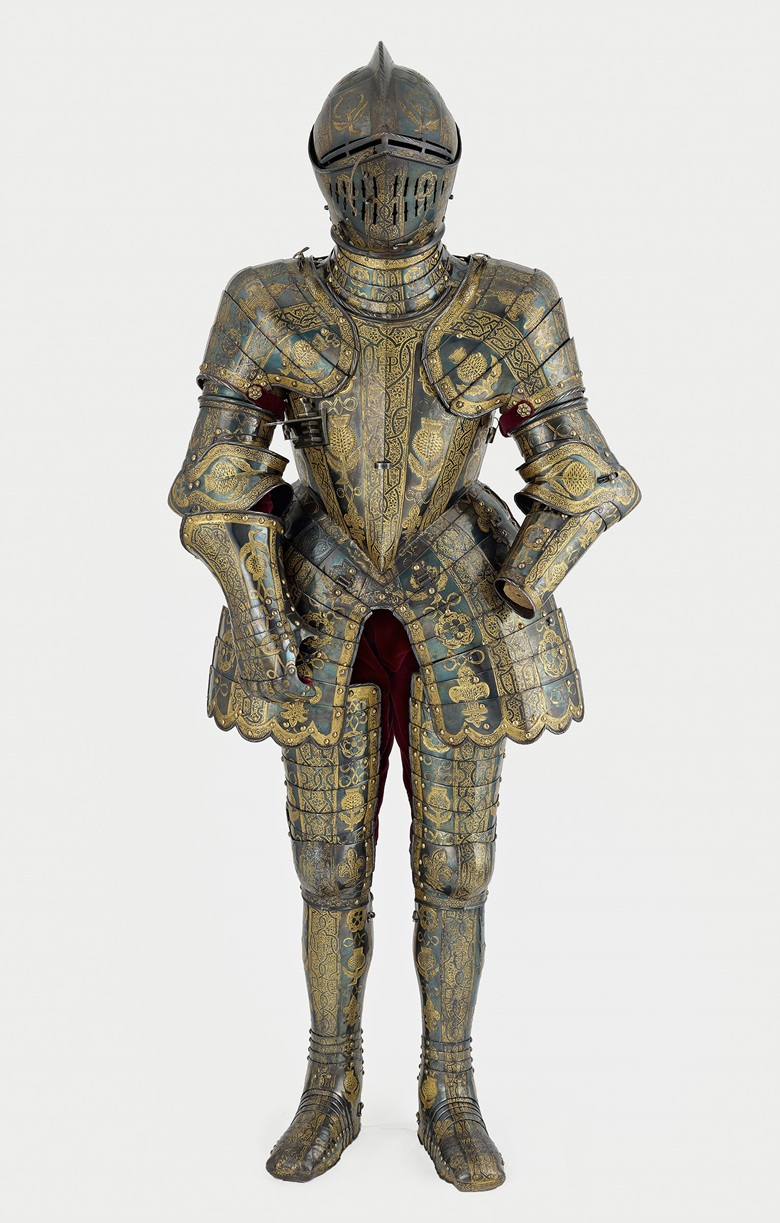 A suit of armour made for Henry, Prince of Wales, the elder brother of Charles I, circa 1608. Photo Royal Collection Trust  © Her Majesty Queen Elizabeth II 2017