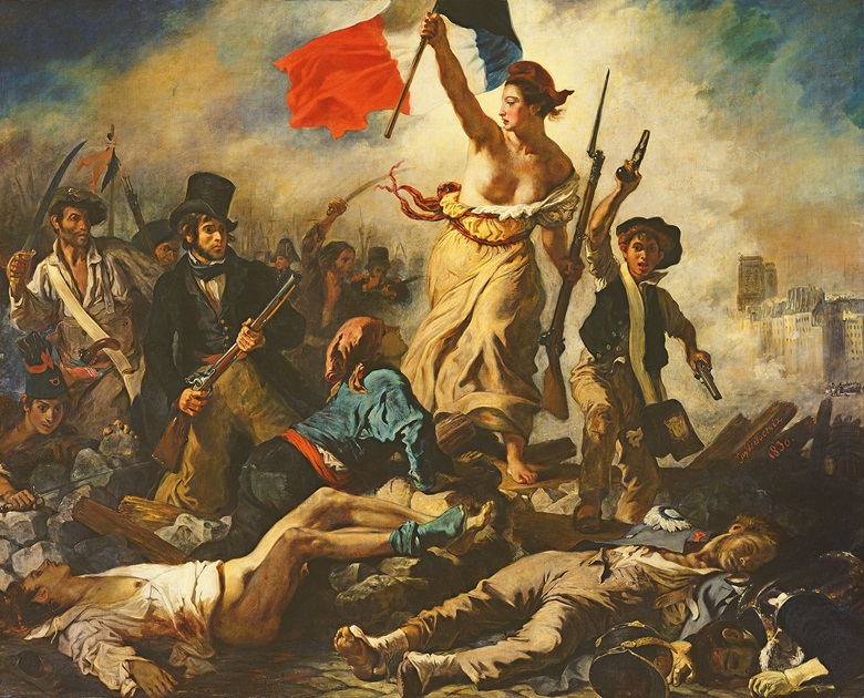 Eugène Delacroix, La liberté guidant le peuple (Liberty Leading the People), 1830. ©Louvre-Lens, France  Bridgeman Images