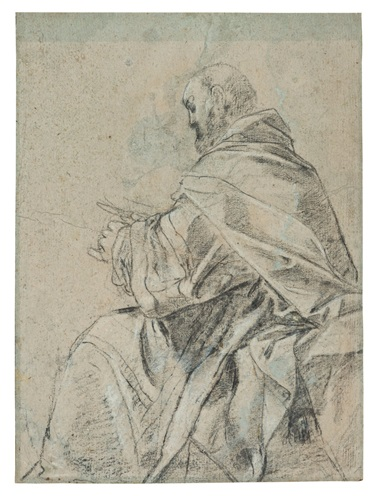 Giacomo Cavedone (Sassuolo 1577-1660 Bologna), Study of a priest in profile. 14 x 10¼  in (35.6 x 26 cm). Estimate $15,000-25,000. This lot is offered in Old Master & British Drawings on 30 January 2018  at Christie's in New York