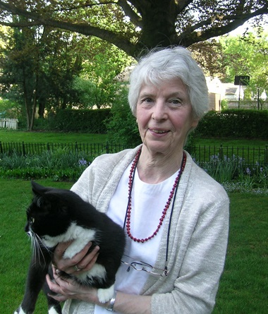 Ann Sutherland Harris and Nerina, her cat