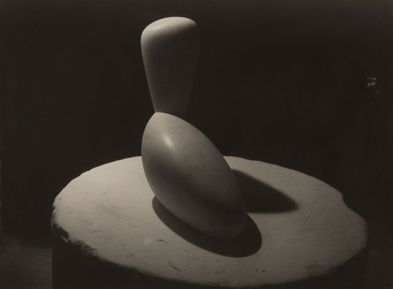Constantin Brâncuși (1876-1957), Léda, 1920-1921. Gelatin silver print, mounted on card. Imagesheet 6¾ x 9 in (17.1 x 22.9 cm). Mount 15 x 18½ in (38 x 46.9 cm). Estimate $70,000-90,000. This work is offered in the Photographs Day Sale on 10 October at Christie's in New York
