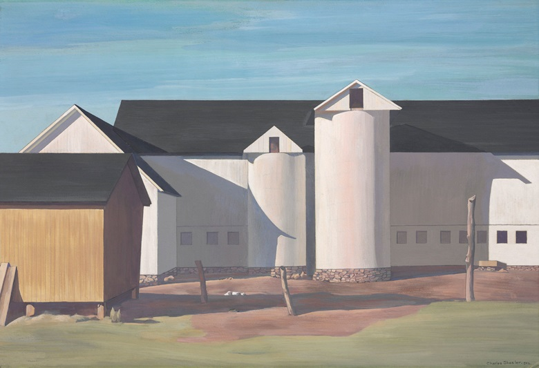 Charles Sheeler (1883-1965), White Sentinels, 1942. 15 x 22  in (38.1 x 55.9  cm). Estimate $1,000,000-1,500,000. This lot is offered in The Collection of David and Peggy Rockefeller Art of the Americas, Evening Sale on 9 May at Christie's in New York