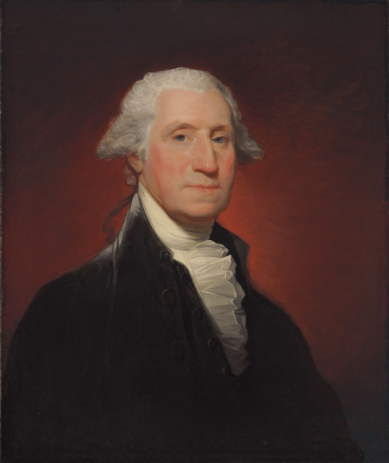 Gilbert Stuart (1755-1828), George Washington (Vaughan type), 1795. 29⅛ x 24⅛  in (74 x 61.3  cm). Estimate $800,000-1,200,000. This lot is offered in The Collection of David and Peggy Rockefeller Art of the Americas, Evening Sale on 9 May at Christie's in New York