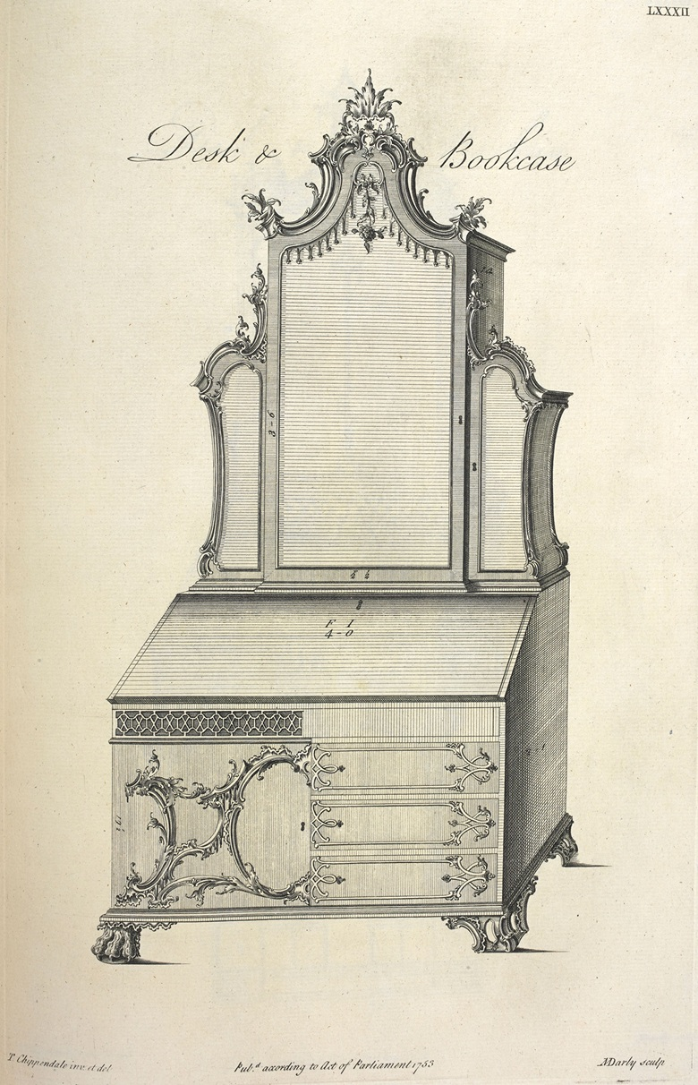 An illustration from The Gentleman and Cabinet-Maker's Director, 1754. Credit British Library, London, UK  (c) British Library Board. All Rights Reserved  Bridgeman Images