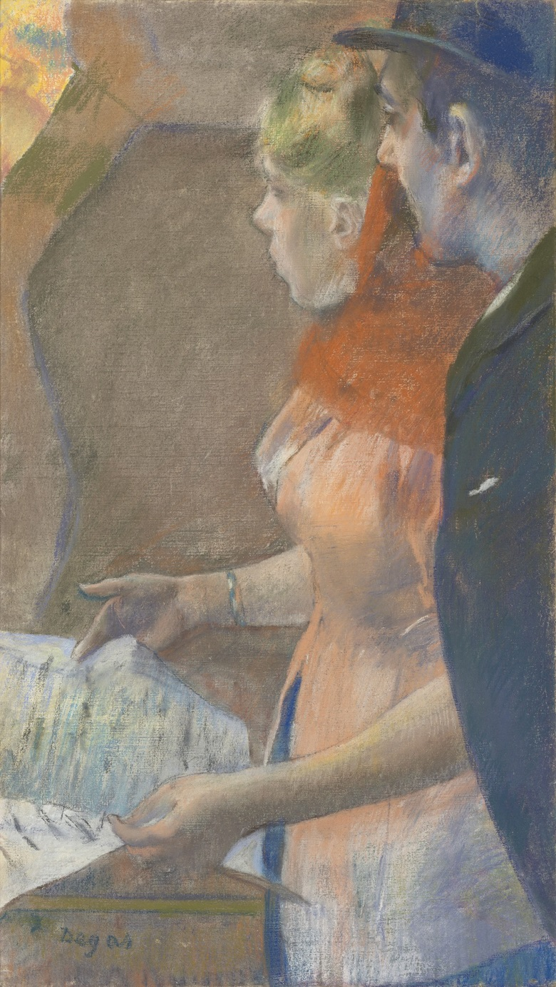 Edgar Degas (1834-1917), Dans les coulisses, circa 1882-85. 26¼ x 14¾  in (66.7 x 37.5  cm). Estimate £8,000,000-12,000,000. This lot is offered in the Impressionist and Modern Art Evening Sale  on 27 February 2018  at Christie's in London