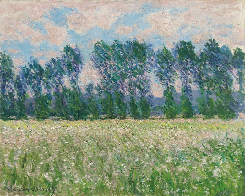 Claude Monet (1840-1926), Prairie à Giverny, 1885. 25⅝ x 32  in (65.2 x 81.1  cm). Estimate £7,000,000-10,000,000. This lot is offered in the Impressionist and Modern Art Evening Sale  on 27 February 2018  at Christie's in London