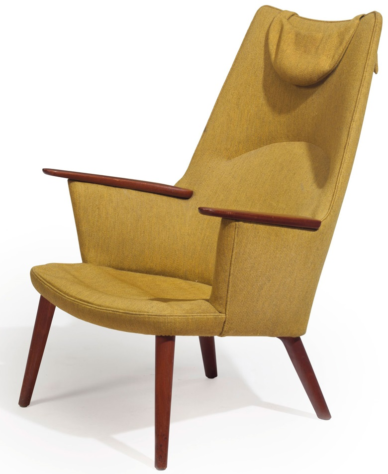 Hans Wegner (1914-2007), a Mama Bear chair, designed 1954. 40¾ in (1035 cm) high. Sold for $3750, 14 Feb 2018, Online