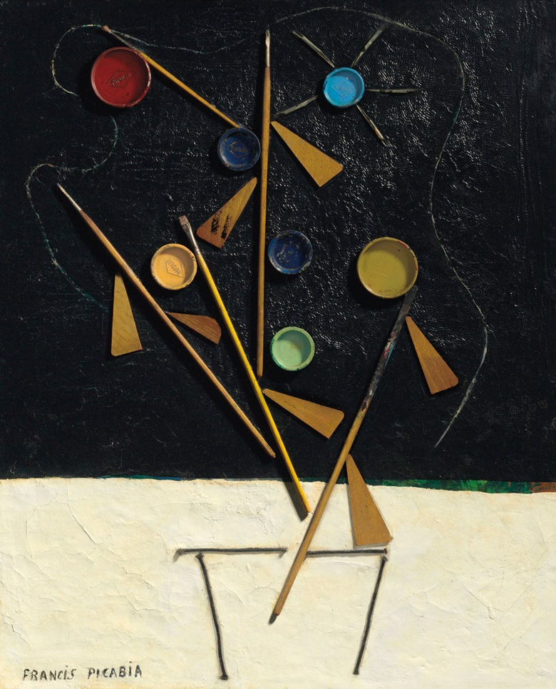 Francis Picabia (1879-1953), Sans titre (Pot de fleurs), executed circa 1924-1925. 25⅝ x 21¼  in (65.2 x 54  cm). Estimate £900,000-1,200,000. This lot is offered in Impressionist and Modern Art Evening Sale  on 27 February 2018  at Christie's in London © ADAGP, Paris and DACS, London 2018.