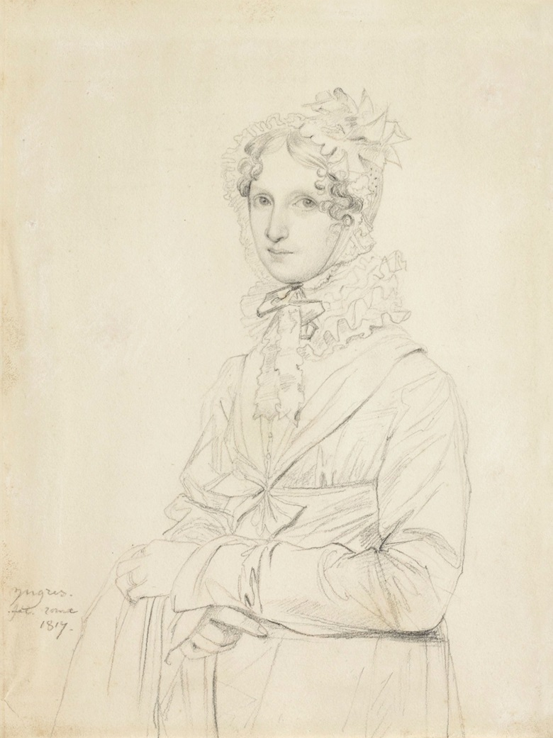 Jean-Auguste-Dominique Ingres (1780-1867), Louise Sophia Enrietta Catharina Ritter (Fräulein Ritter), 1817. Graphite and pink chalk. 8¾ x 6½ in (22.2 x 16.7 cm). Estimate $120,000-180,000. This work will be offered in The Collection of Peggy and David Rockefeller in Spring 2018 at Christie's in New York