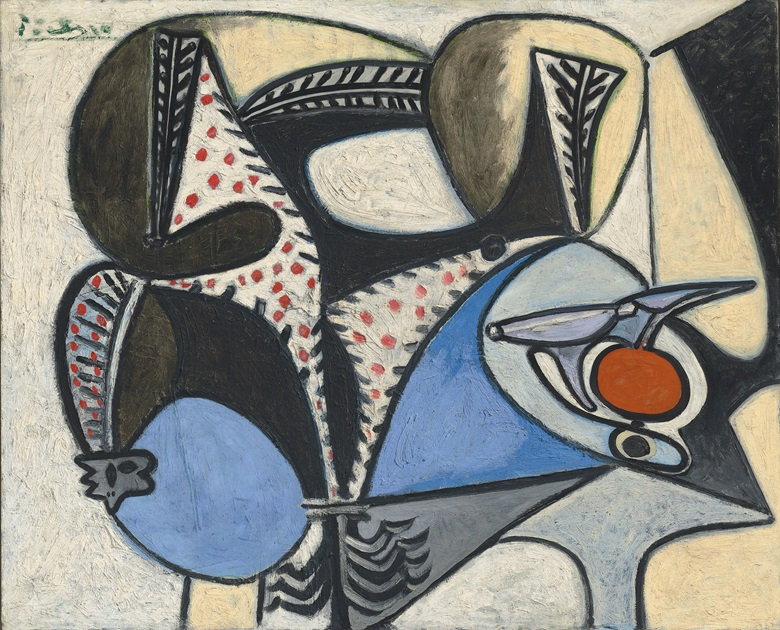 Pablo Picasso (1881-1973), Le coq saigné, painted on 27 february 1947 and 13 october 1948. 31⅞ x 39⅜  in (81 x 99.9  cm). Estimate £2,200,000-2,800,000. This lot is offered in Impressionist and Modern Art Evening Sale  on 27 February 2018  at Christie's in London © Succession PicassoDACS, London 2018
