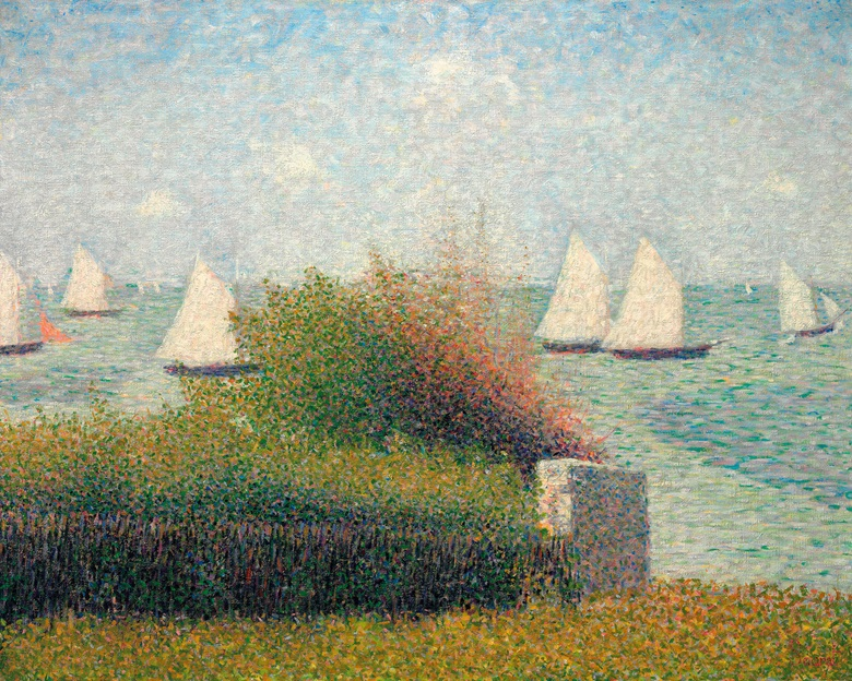 Georges Seurat (1859-1891), La rade de Grandcamp (Le port de Grandcamp), 1885. Estimate on request. This lot is offered in The Collection of David and Peggy Rockefeller 19th & 20th Century Art, Evening Sale on 8 May at Christie's in New York