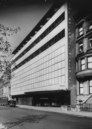 Exterior of new MoMA building, 1939. Photo Michael RougierGetty Images
