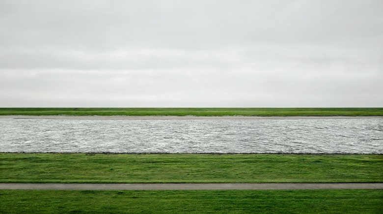 Andreas Gursky (b. 1955), Rhein II, 1999. Image 73 x 143 in (185.4 x 363.5 cm). Sold for $4,338,500 on 8 November 2011 at Christie's in New York © Andreas GurskyDACS, 2017 Courtesy Sprüth Magers