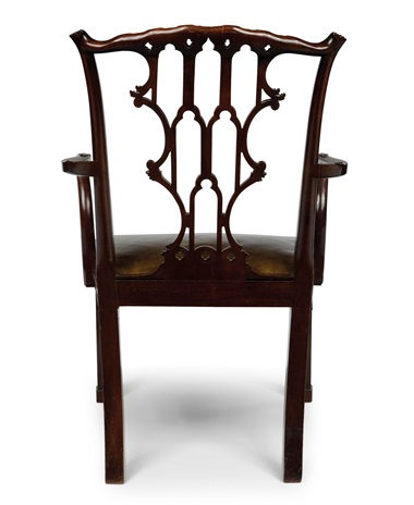 A George III mahogany dining chair, circa 1760 (one of a set of ten). Estimate $50,000-100,000. This lot is offered in the Collection of Peggy and David Rockefeller in Spring 2018 at Christie's in New York