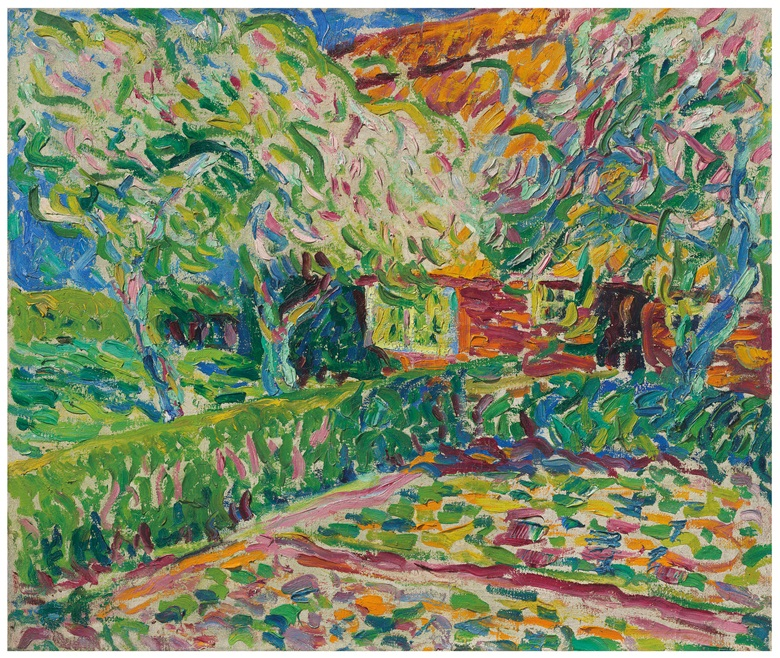 Erich Heckel (1883-1970), Blühende Apfelbäume, 1907. Oil on canvas. 25⅜ x 30¼ in (64.5 x 76.8 cm). Estimate £750,000-1,000,000. This work is offered in the Impressionist and Modern Art Evening Sale on 27 February at Christie's in London