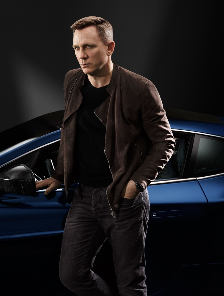 Daniel Craig customised his Vanquish to reflect his penchant for denim and dark colours