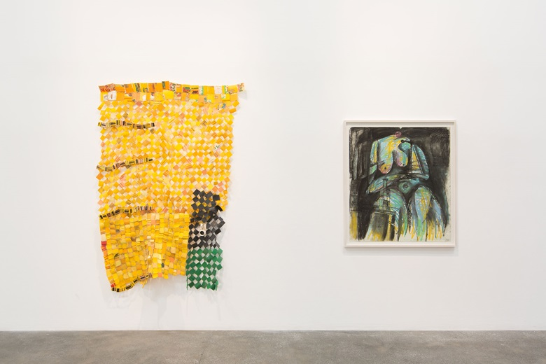 Serge Attukwei Clottey, The Displaced installation view at Lawrie Shabibi Dubai, 20 January to 3 March 2018. Images copyright the artist and courtesy of Gallery 1957, Accra