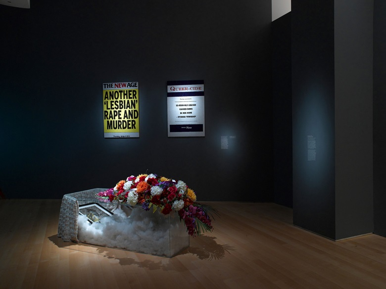 Zanele Muholi 2015 installation view courtesy of The Brooklyn Museum