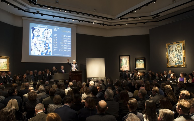 Picasso's musketeer leads the  auction at Christies