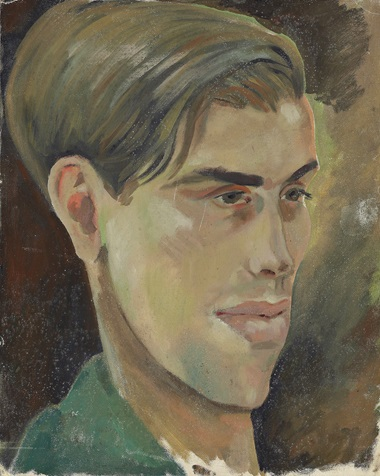Gerald Tyrwhitt-Wilson, Lord Berners (British, 1883-1950). One of two portraits of Robert Heber-Percy (1911-1987). This lot and three other portraits of Robert Heber-Percy (1911-1987) are offered in the Interiors sale on 12 April at Christies London