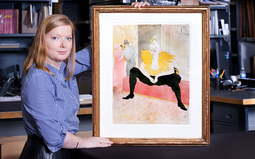 Lindsay Griffith with Toulouse-Lautrec's La Clownesse assise