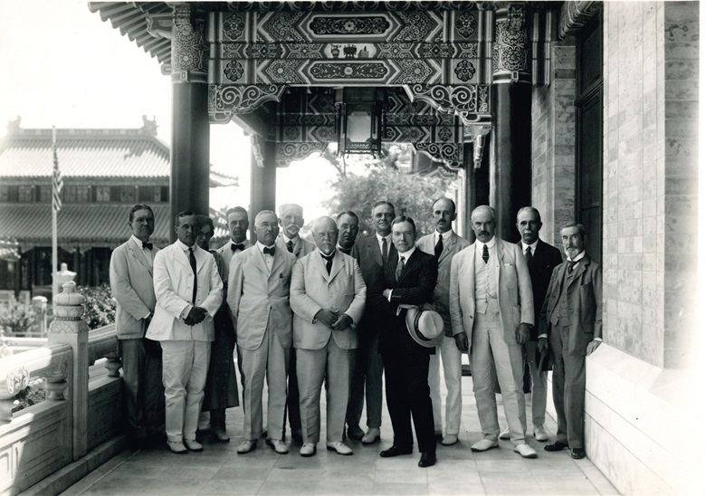John D. Rockefeller, Jr, and trustees at the Peking Union Medical College in 1921. Photograph courtesy of the Rockefeller Archive Center