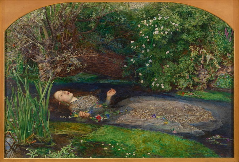 Sir John Everett Millais (1829-1896), Ophelia, 1851-52. Tate Britain. Photo © Tate CC-BY-NC-ND 3.0 (Unported)