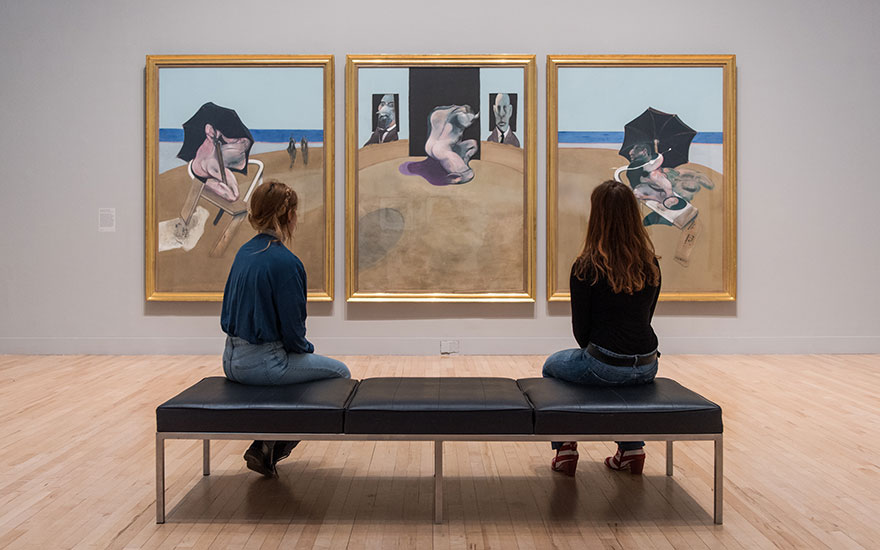 Installation view of All Too Human Bacon, Freud and a Century of Painting Life at Tate Britain. Photo © Tate photography (Joe Humphrys)